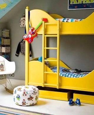 双人儿童房高低床装修