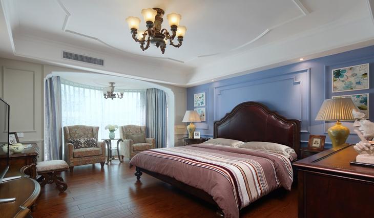 清新优雅美式田园风卧室设计