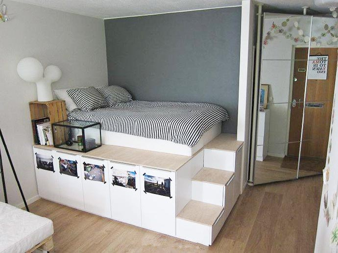 卧室地台装修装饰图片_齐家网装修效果图