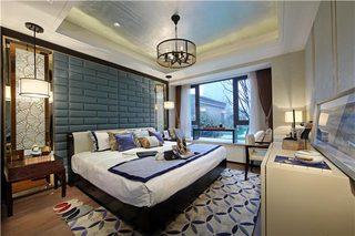 130㎡新中式三居卧室效果图