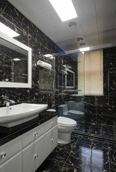 时尚现代风格 黑色卫生间设计图