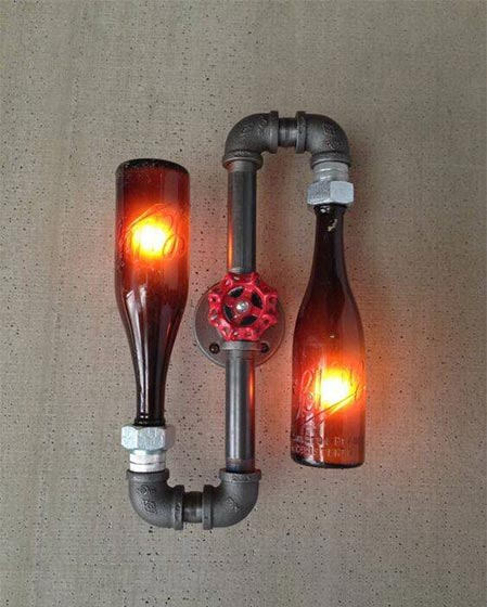 工业风水管灯装修装饰效果图