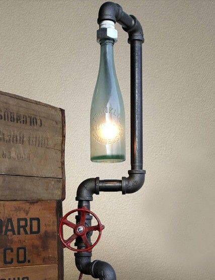 工业风水管灯装修装饰图片