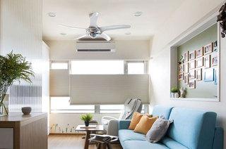 清新蓝白配 北欧风格客厅设计