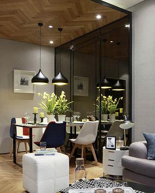 87平样板房餐厅装潢效果图
