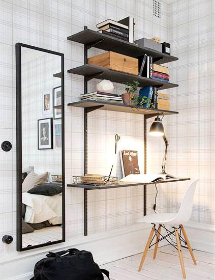 44平单身公寓工作区装修