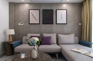 85平宜家小两居装修客厅沙发图片