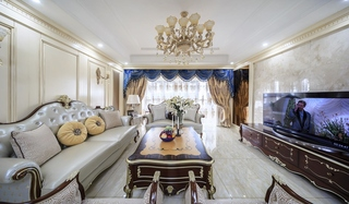 优雅欧式新古典客厅装饰效果图