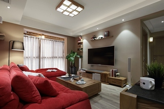 简约风格小公寓装修客厅吊顶装修