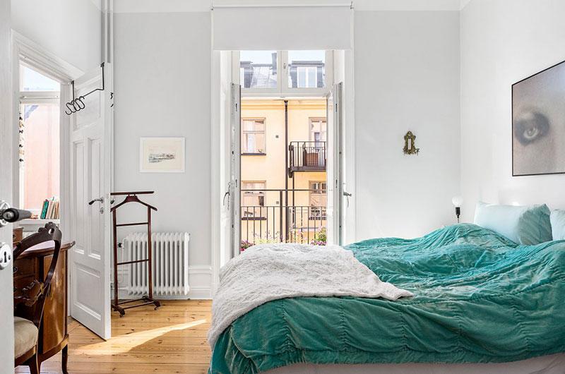 118平北欧三居卧室实景图