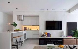 明亮简约风情开放式厨房设计
