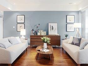现代简约风三居设计  高品质蓝灰色系