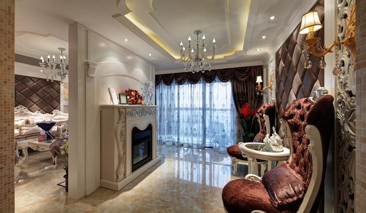 奢华法式新古典 客厅吊顶装修图