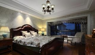 美式风格三居室卧室效果图