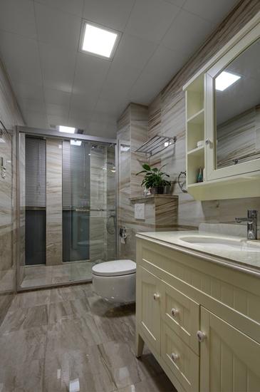 时尚现代美式卫生间设计效果图