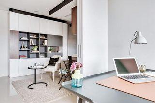 50㎡现代一居室公寓书房效果图