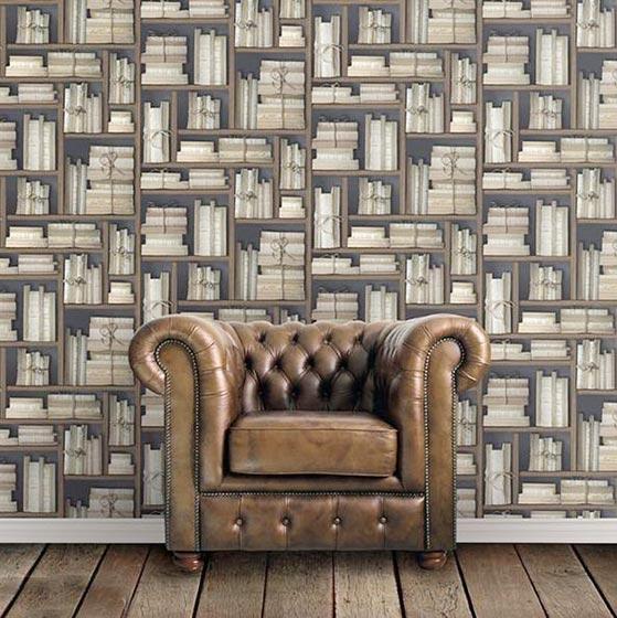 客厅复古墙纸装修效果图