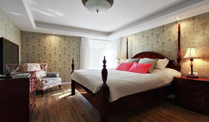 美式田园风格装修 让你的家更加温暖卧室设计