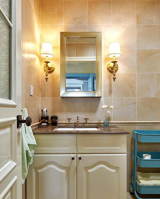 100平混搭美式公寓主卫生间装修图