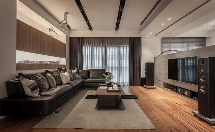 钢筋森林里的舒适小木屋  自然环保的三居室设计客厅设计