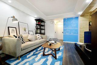93㎡北欧风两居室客厅效果图