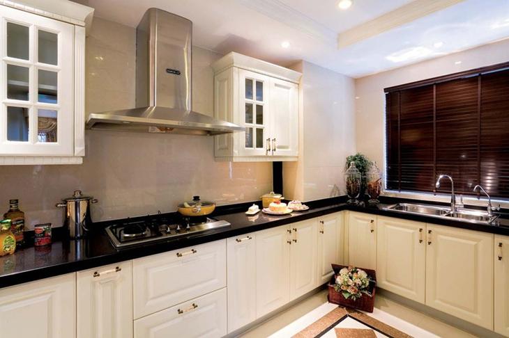 乡村美式厨房橱柜效果图