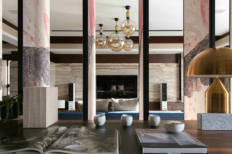 新中式风格书房客厅隔断设计