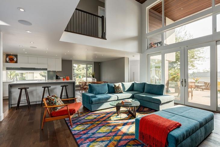 我最爱的简约风格装修客厅布艺沙发