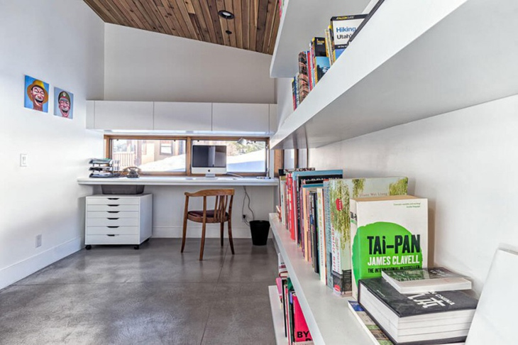 个性工业风格装修书房效果图