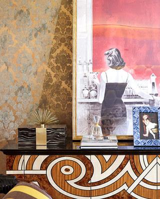 280平欧式古典样板房梳妆台设计