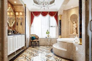 280平欧式古典样板房卫生间装修图