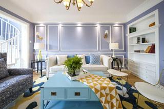 145平美式样板房客厅装修图