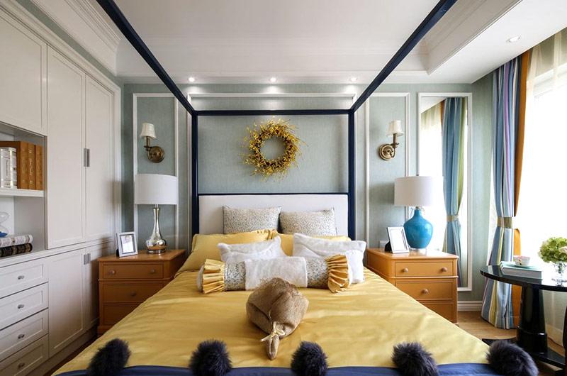 美式新古典 主卧室样板房欣赏