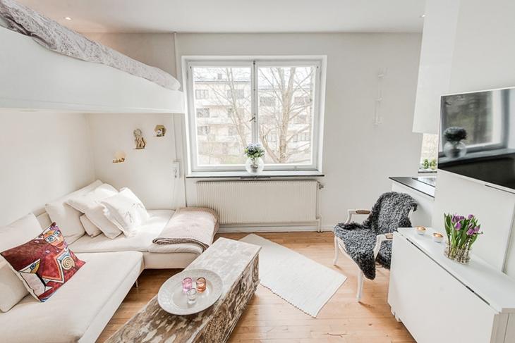 让人喜爱的北欧风格装修小客厅装潢图