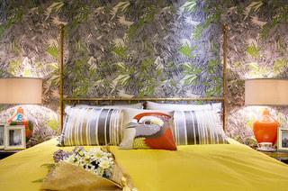120平简约三居主卧室效果图设计