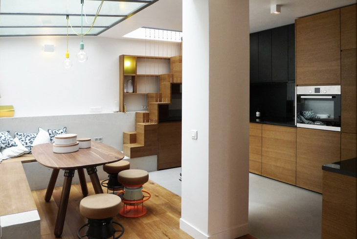 小户型loft风格装修客厅隔断设计