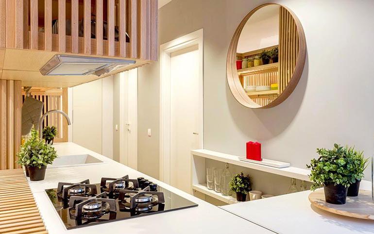 45平日式风格公寓厨房台面装修