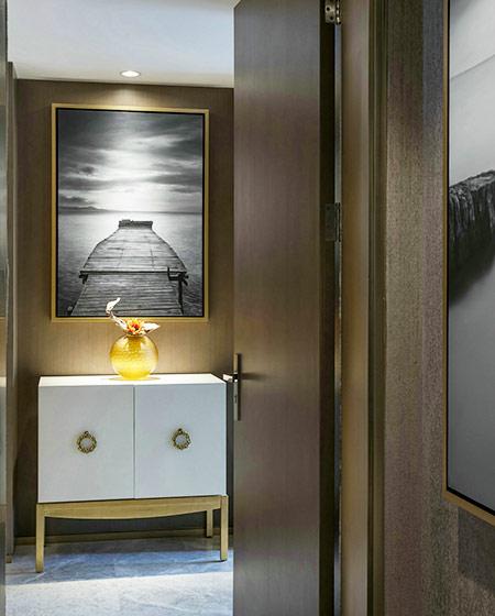 奢华后现代风格 玄关柜设计图