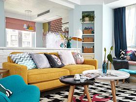 北欧风格两室两厅装修 清新自然风