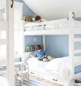 儿童房高低床布置平面图