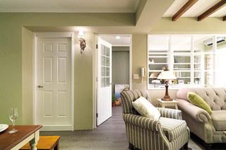 清新果绿色 美式家居门设计图