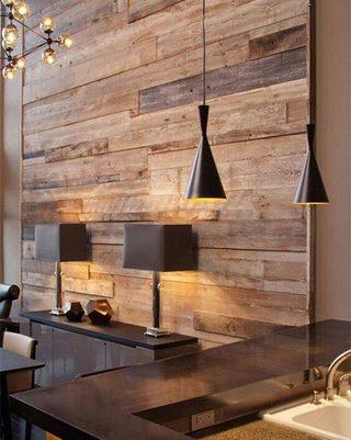 木质墙面装修装饰效果图