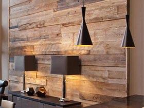 爱好实木跟我来  地板上墙效果不错