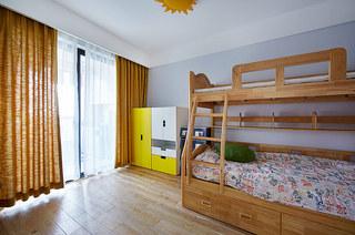 清新森系宜家风儿童房窗帘设计