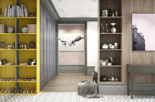 混搭风格公寓收纳柜图片