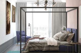 混搭风格公寓卧室床架图片