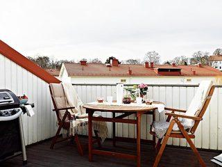 休闲阳台布置构造图