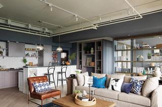 125平北欧婚房装修客厅效果图设计