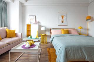 小户型北欧风格一居室装修图