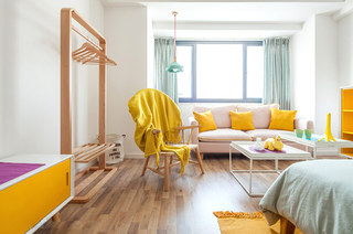 北欧风格一居室木地板效果图